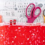 just red detaifoto sewing mat