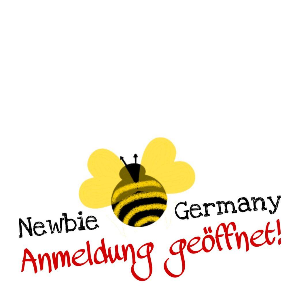logo Anmeldung geöffnet newbie bee germany