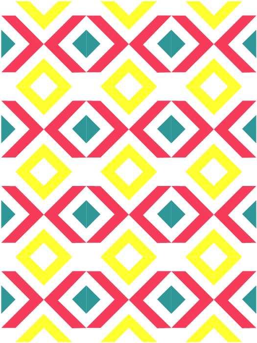 nbg 80sarrows block quilt