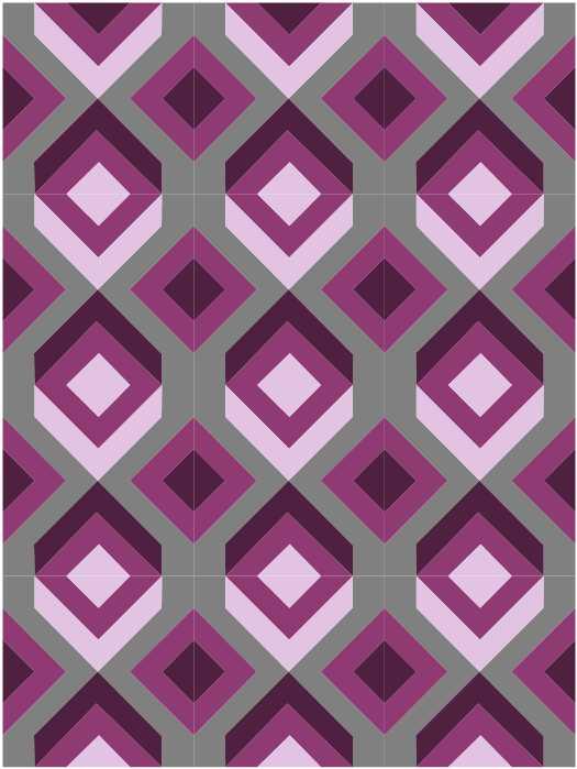 nbg 80s arrows block quilt