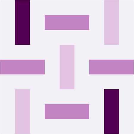 Quiltblock Dreamweaver aus Streifen, schematische Darstellung