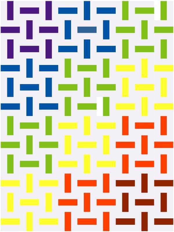 Quiltblock Dreamweaver als Rainbow Quilt