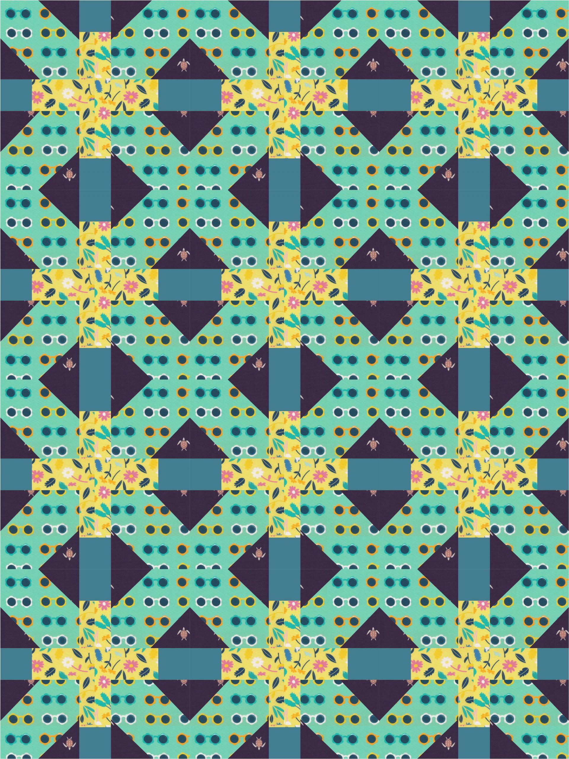 double crossed block - quilt