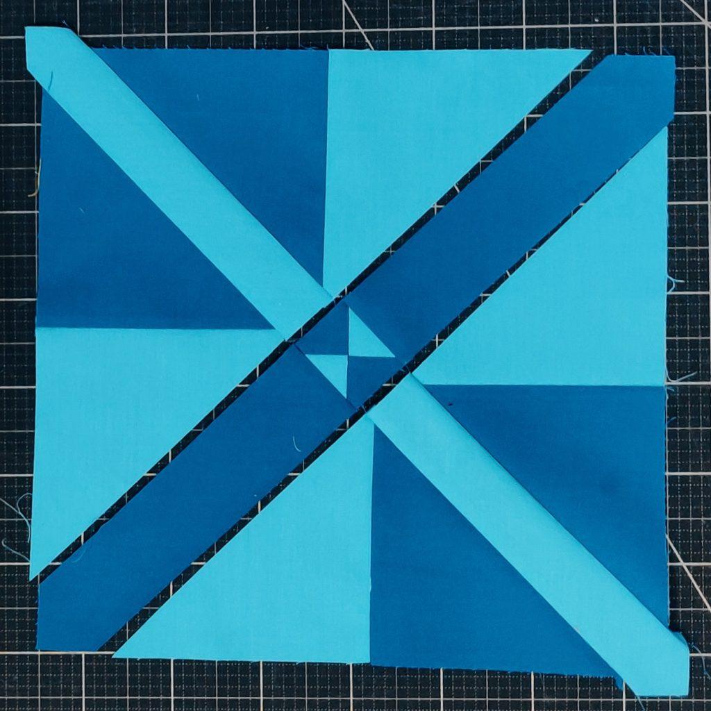 Milky way block blau fast fertig