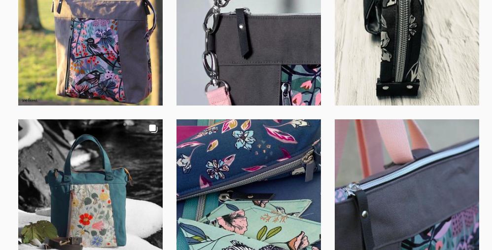 ausschnitt aus sew.licious instagram feed - Taschen