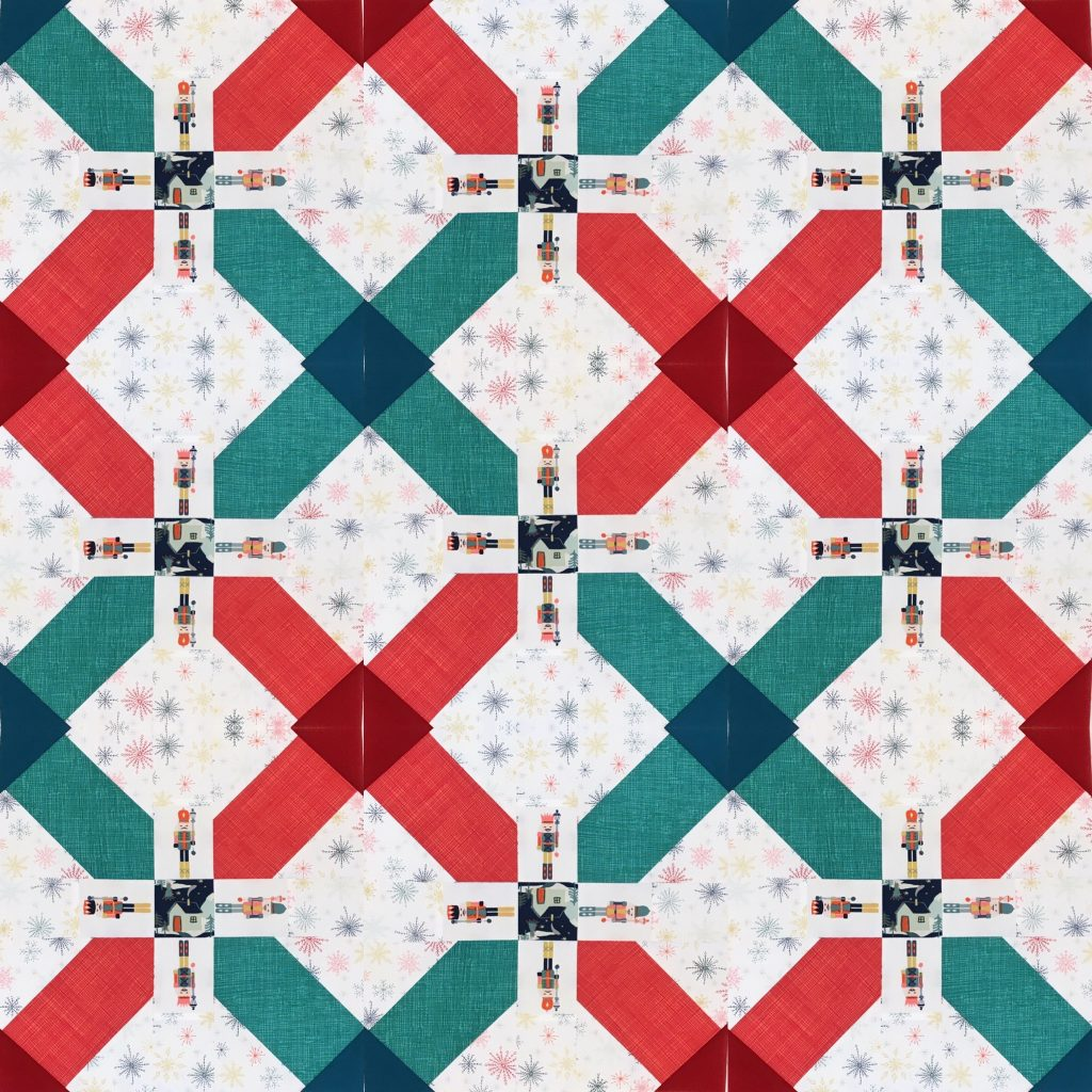 tartan double cross xmas quilt